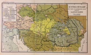 Austria-Hungary and Parts of Southeastern Europe showing Languages. THE SMITHSONIAN INSTITUTION