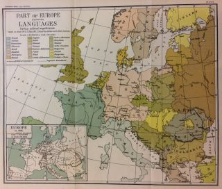 Part of Europe showing Languages having political significance. THE SMITHSONIAN INSTITUTION