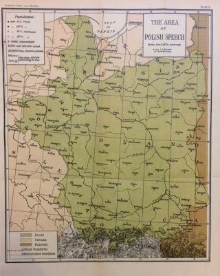 The Area of Polish Speech from available sources. THE SMITHSONIAN INSTITUTION