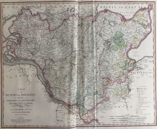A Map of the Dutchy of Holstein, and the Territories of the Imperial Towns Hamburg & Lubeck, Also...