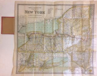 Canal and Railroad Map of the State of New York to Accompany the Legislative Manual. J. B. LYON
