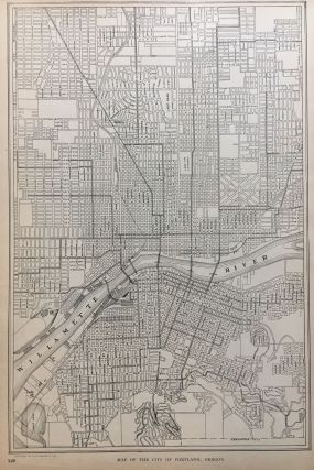Map of the City of Portland, Oregon; with Map of the Greater City of Pittsburgh (Pittsburgh with Allegheny), Pennsylvania. P. F. COLLIER, Adam WARD.