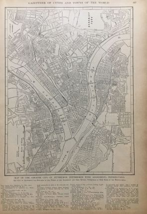 Map of the City of Portland, Oregon; with Map of the Greater City of Pittsburgh (Pittsburgh with Allegheny), Pennsylvania
