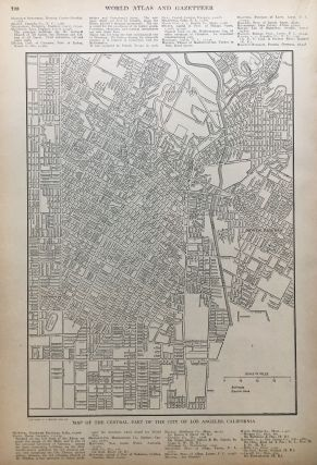 Map of the Central Part of the City of Los Angeles, California. P. F. COLLIER, Adam WARD