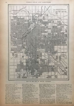 Map of the City of Denver, Colorado. P. F. COLLIER, Adam WARD.