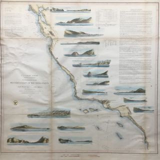 Reconnaissance of the Western Coast of the United States Lower Sheet from San Francisco to San...