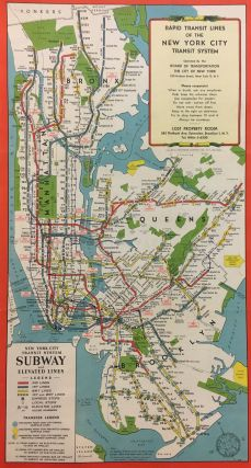 Rapid Transit Lines of the New York City Transit System. HAGSTROM.