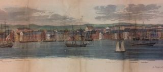 A View of the City of New York from Brooklyn Heights, foot of Pierrepont St. in 1798 by Monsieur...
