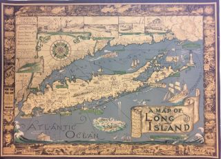 A Map of Long Island. Richard FOSTER.