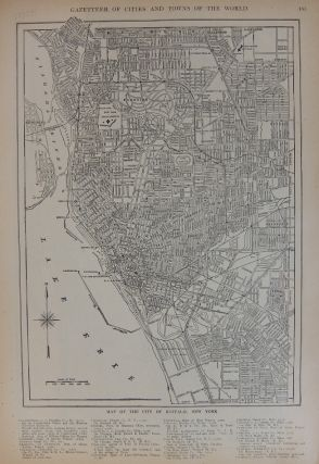 Map of the City of Chicago, Illinois (First Section); with Map of the City of Buffalo, New York