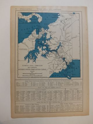 Isthmian Canal Commission Map Showing Isthmus with Completed Canal. P. F. COLLIER, Adam WARD