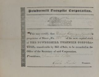 Share No. 20 of The Powdermill Turnpike Corporation. POWDERMILL TURNPIKE CORPORATION