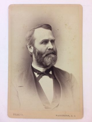 Scarce Signed Mathew Brady Cabinet Photograph. Jacob D. COX