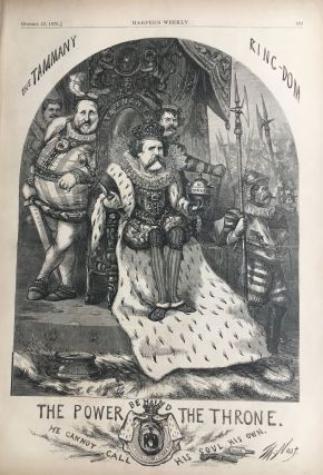 The Power Behind the Throne. He Cannot Call His Soul His Own. Thomas NAST, HARPER'S WEEKLY.
