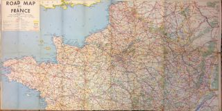 Road Map of France. ARMY MAP SERVICE, U S. ARMY CORPS OF ENGINEERS