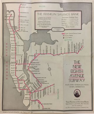 The New Eighth Avenue Subway; Route Maps - Station Locations General Information. FRANKLIN...