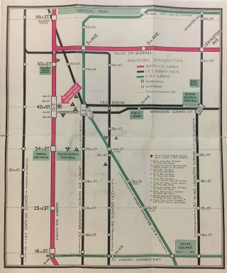The New Eighth Avenue Subway; Route Maps - Station Locations General Information