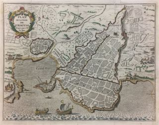 Plan De La Ville De Syracuse. Jacques-Phillipe LE BAS