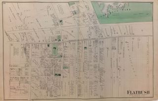 Flatbush; Town of Flatbush Kings Co. L.I. Frederick W. BEERS