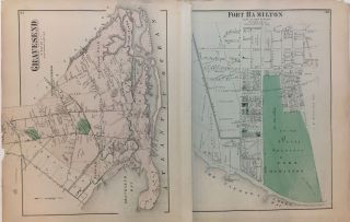 Portion of East New York New Lots, Kings Co. L.I.; Early Beers map of Bushwick Brooklyn!