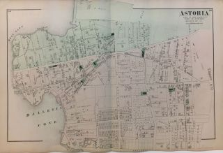 Astoria; Part of Long Island City Town of Newtown Queens Co. L.I. Frederick W. BEERS