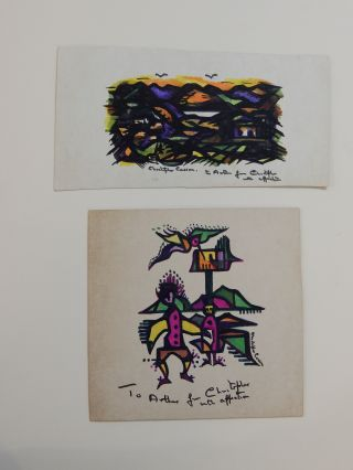 Two Signed Drawings. Christopher CASSON