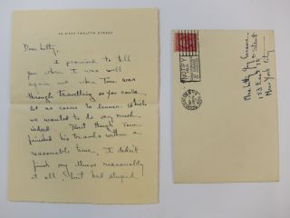 Autograph Letter Signed. Laura Z. HOBSON