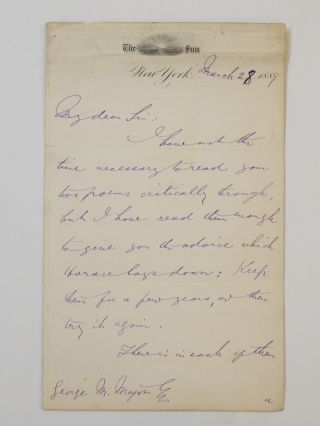 Autograph Letter Signed. Charles A. DANA