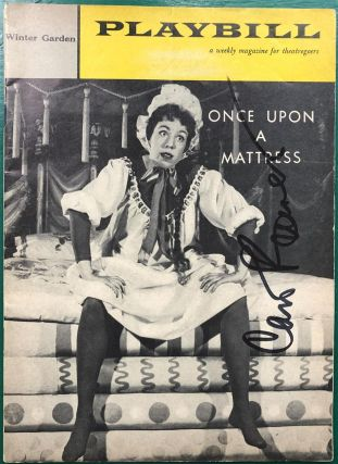 "Signed Playbill -- ""Once Upon A Mattress"" Carol BURNETT, 1933"