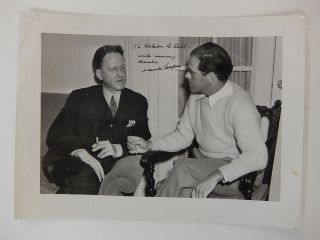 Inscribed Signed Photograph. Frank CAPRA