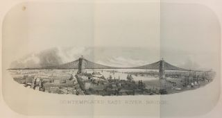 Contemplated East River Bridge. Joseph SHANNON