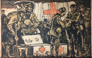 First Aid Military Poster. Sir Frank BRANGWYN