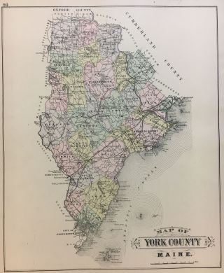 Map of York County. George N. COLBY