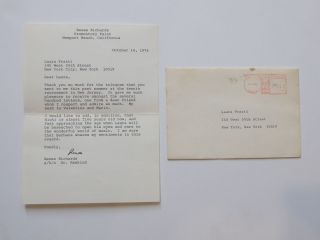 Typed Letter Signed. Renee RICHARDS, 1934