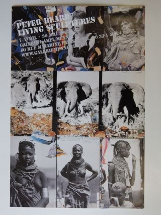 Poster: Living Sculptures 7 Avril - 30 Mai 2003. Peter BEARD