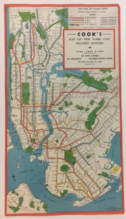 Cook's Map of New York City Transit System. NOSTRAND George