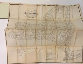 A Map of the State of New York; Exhibiting the several Towns & Counties together with the...