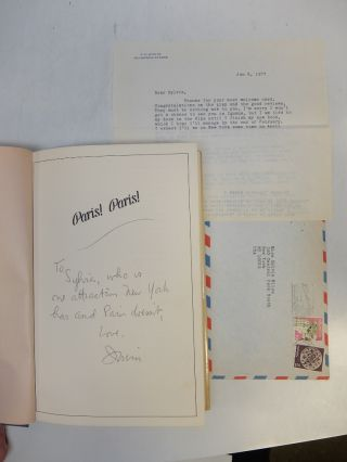 Paris! Paris!; Includes Typed Letter Signed