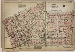 Part of Sections 1 & 2 [SoHo and TriBeCa]. George W. BROMLEY, Walter S. BROMLEY