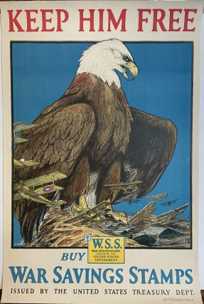 Keep Him Free; Buy War Savings Stamps. Charles Livingston BULL