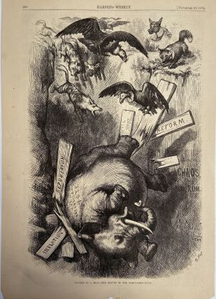 Caught In A Trap; The Result of the Third-Term Hoax. Thomas NAST, HARPER'S WEEKLY