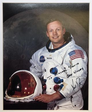 Autographed color photo signed in full by the American Astronaut and Aeronatical Engineer who...