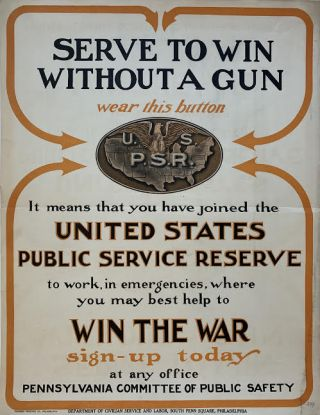 Serve to Win Without a Gun. Department of Civilian Service and Labor