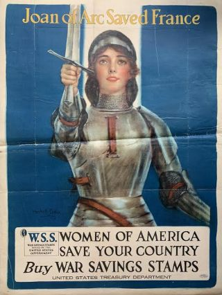 Joan of Arc Saved France, Women of America Save Your Country, Buy War Savings Stamps. Haskell COFFIN