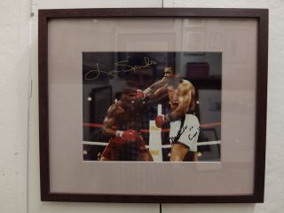 Signed photograph. Muhammad ALI, Leon SPINKS, 1953