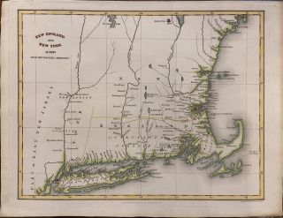 "New England and New York in 1697; from the ""Magnalia Americana"" Isaac Taylor HINTON"