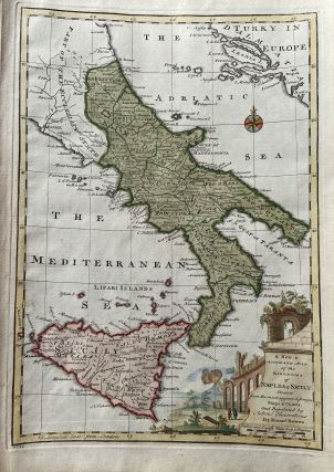 A New and Accurate Map of the Kingdoms of Naples & Sicily. Emanuel BOWEN