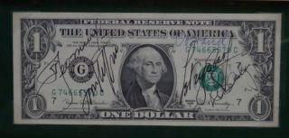 Signed Uncirculated Dollar Bill. APOLLO SOYUZ TEST PROJECT