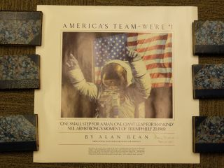 Signed Poster. Alan BEAN