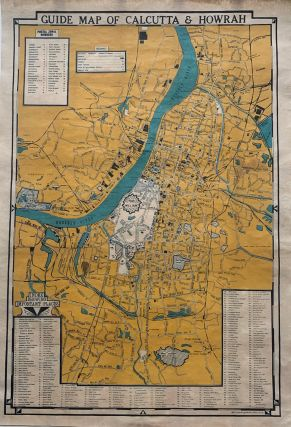 GUIDE MAP OF CALCUTTA AND HOWRAH. DIPT Printing